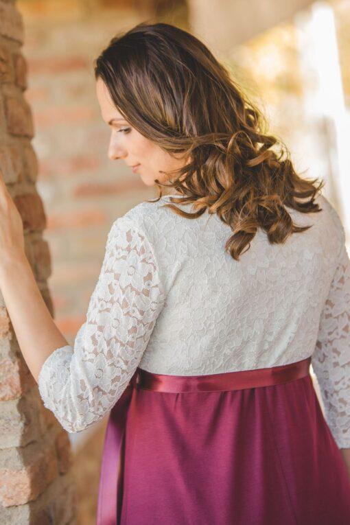krém bordó ruha