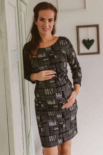 fekete szurke kismama ruha